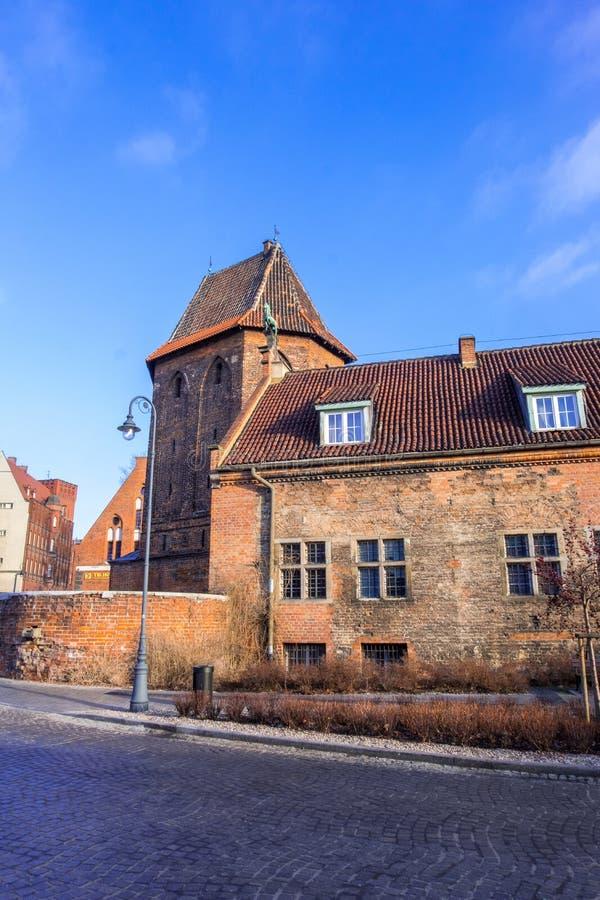 Ruas da cidade velha de Gdansk, Polônia foto de stock