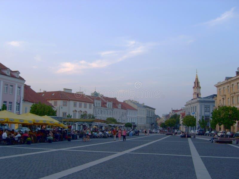 Ruas da cidade velha de Vilnius, Lituânia fotos de stock