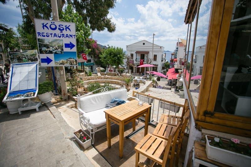 Ruas da estância turística de Kalkan de Turquia fotografia de stock