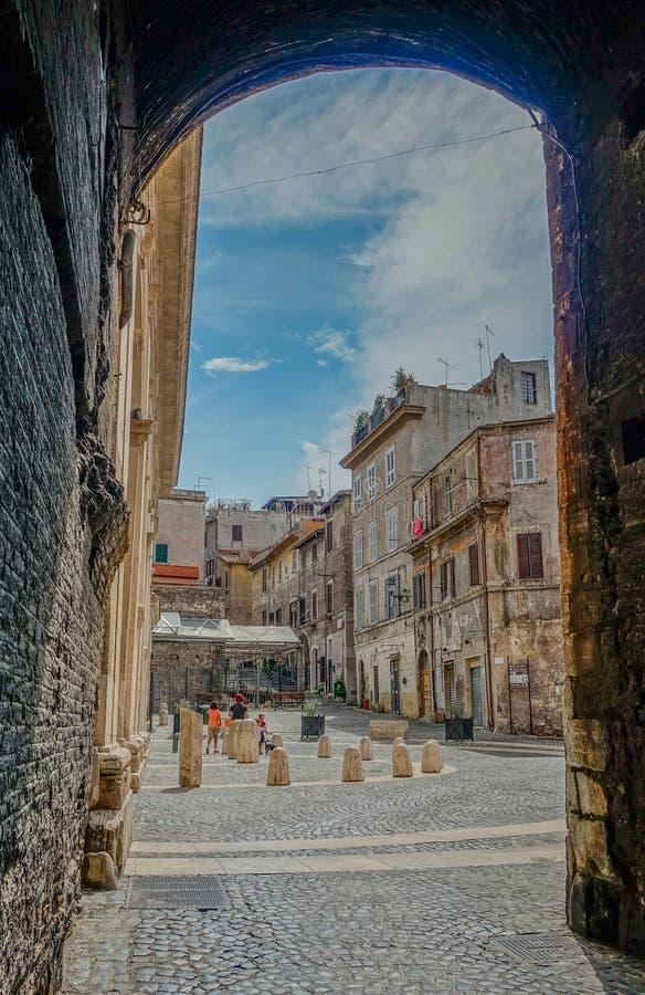 Ruas da vista em Tivoli fotografia de stock