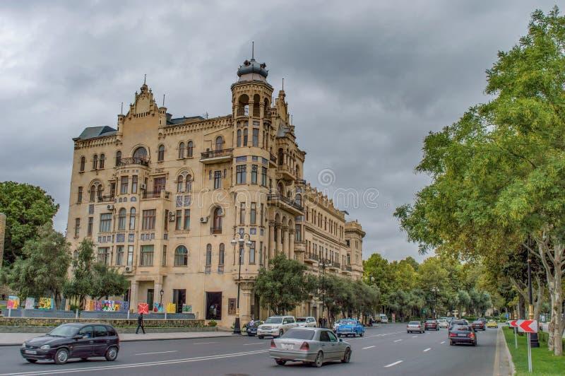 Ruas de Baku, arquitetura imagens de stock