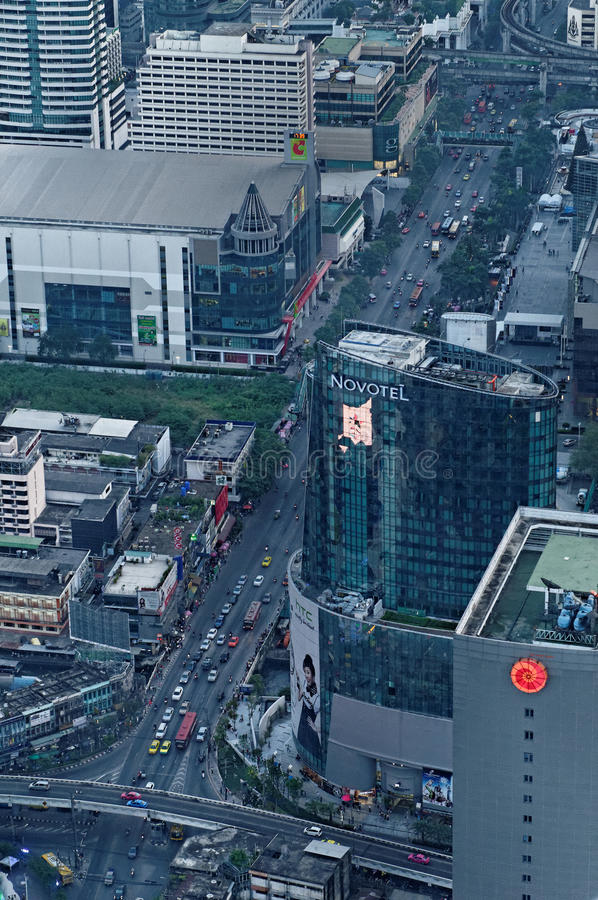 Ruas De Banguecoque Foto de Stock Editorial