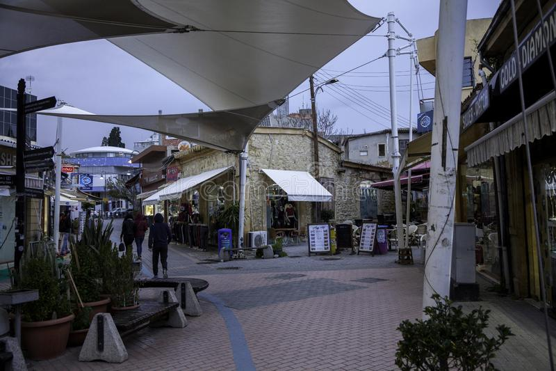 Ruas de Chipre norte fotografia de stock