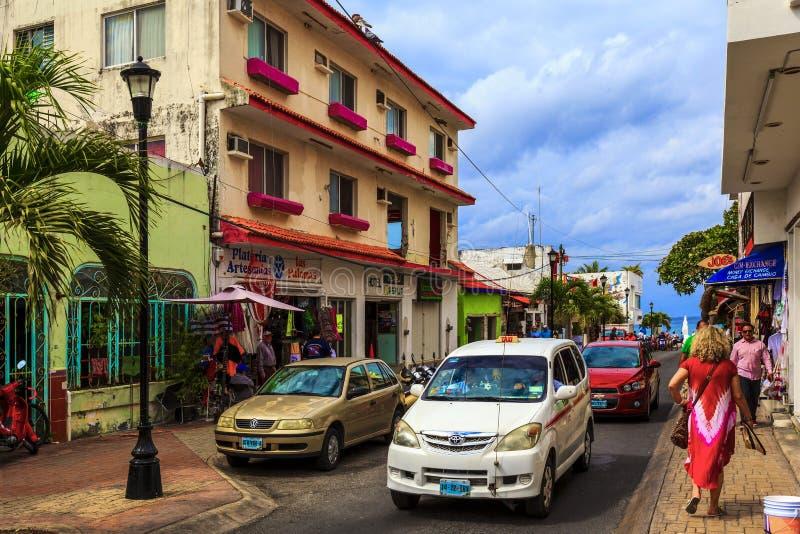 Ruas de Cozumel fotos de stock royalty free