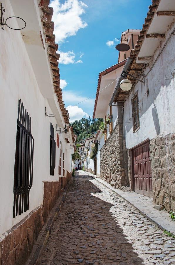 Ruas de Cuzco, Peru fotos de stock royalty free