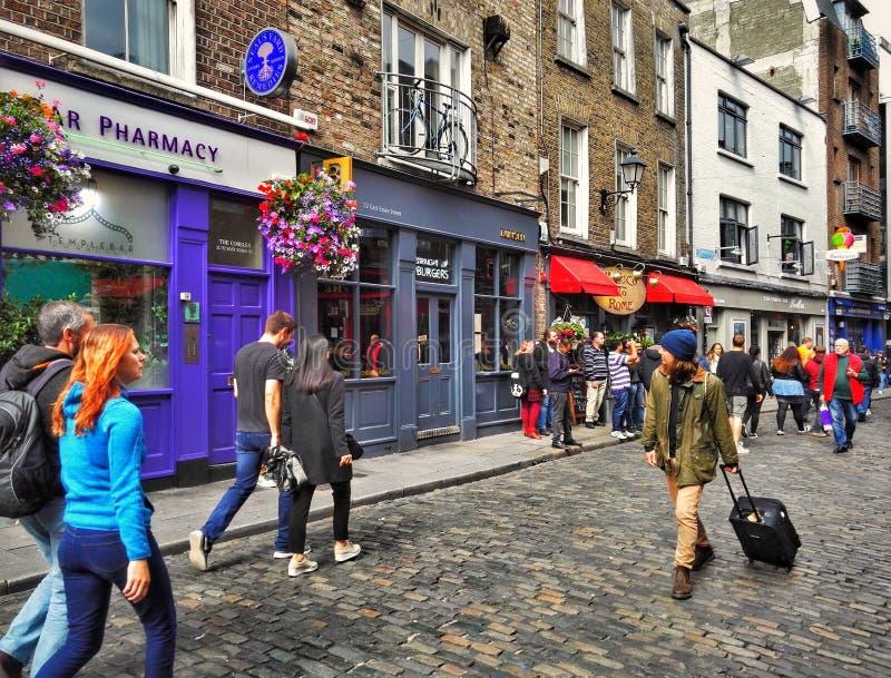 Ruas de Dublin imagens de stock