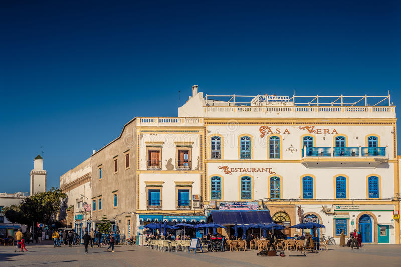 Ruas de Essaouira, Marrocos fotografia de stock royalty free