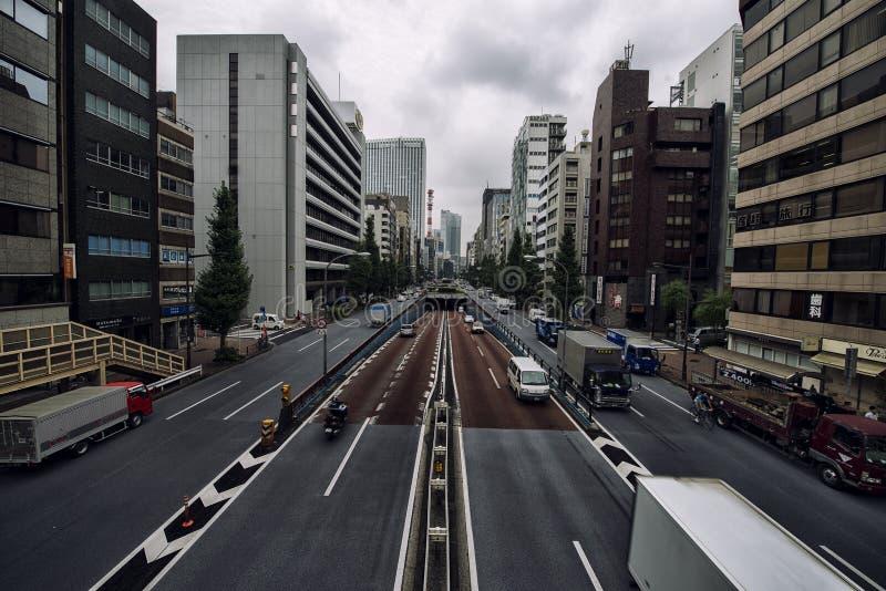 Ruas de Ginza imagens de stock