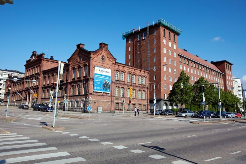 Ruas de Helsínquia imagens de stock