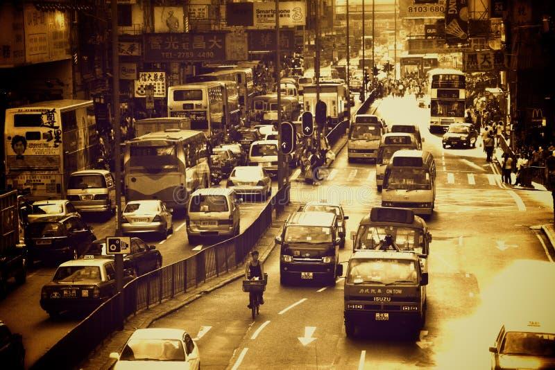 Ruas de Hong Kong imagens de stock royalty free