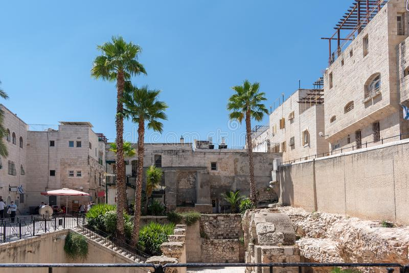 Ruas de Jerusalém Velha, Cidade Santa, Israel fotografia de stock royalty free