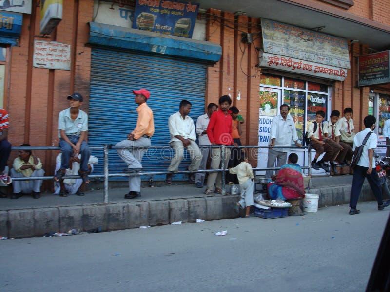Ruas de Kathmandu imagens de stock royalty free