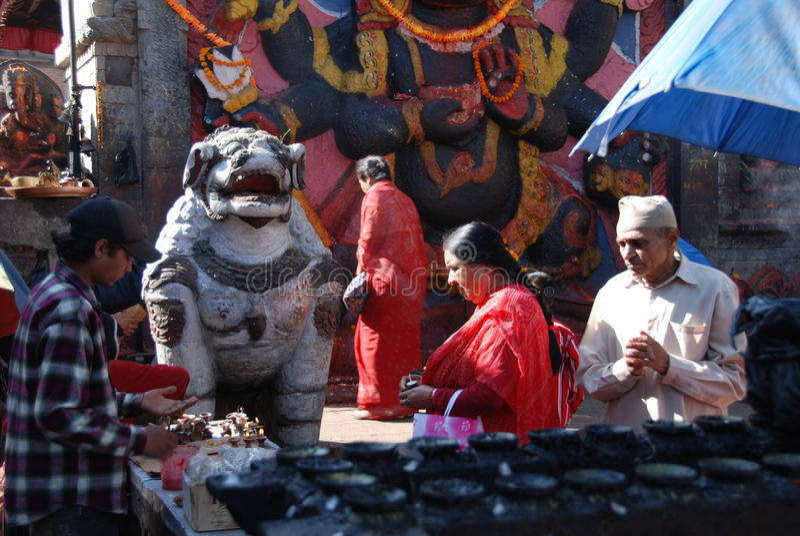 Ruas de Kathmandu foto de stock royalty free