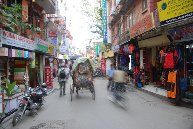 Ruas de Kathmandu imagens de stock