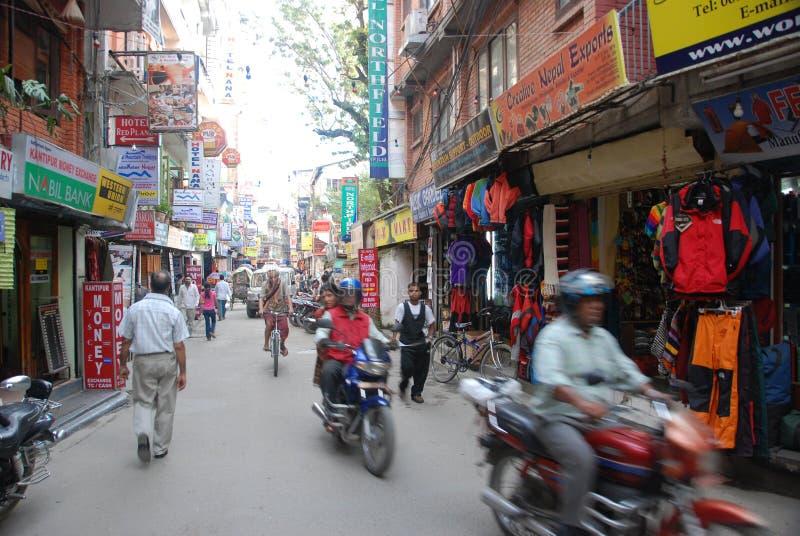 Ruas de Kathmandu fotos de stock