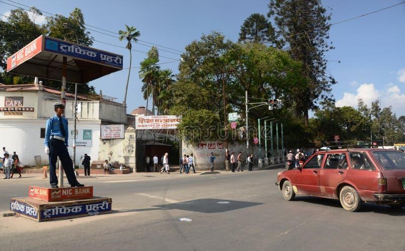 Ruas de Kathmandu imagem de stock