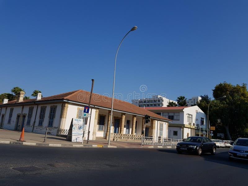 Ruas de Larnaca, Chipre imagem de stock