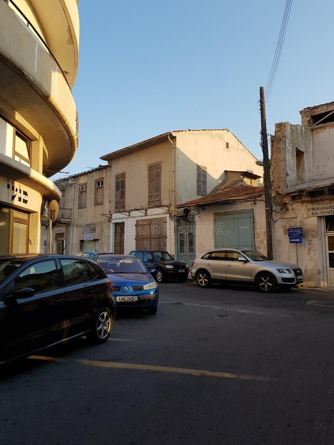 Ruas de Larnaca, Chipre foto de stock
