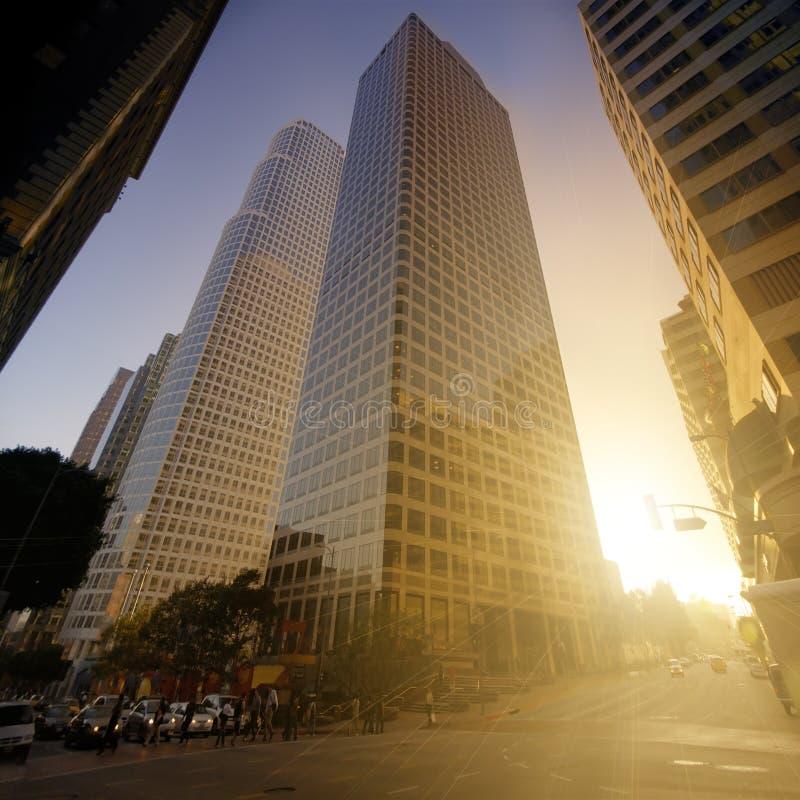 Ruas de Los Angeles imagem de stock