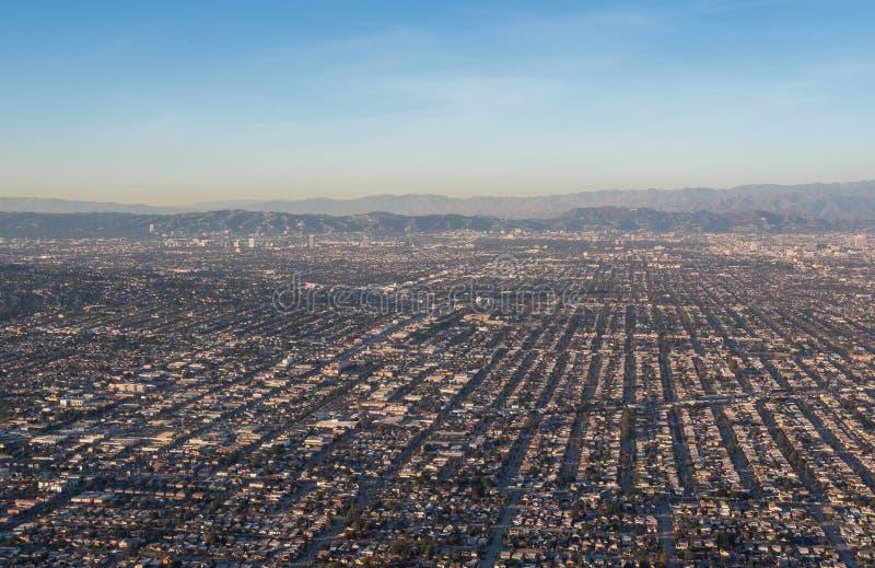 Ruas de Los Angeles no por do sol fotografia de stock