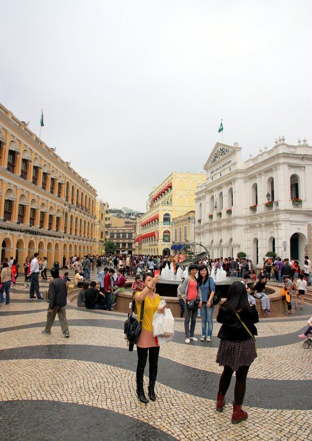 Ruas de Macau fotografia de stock