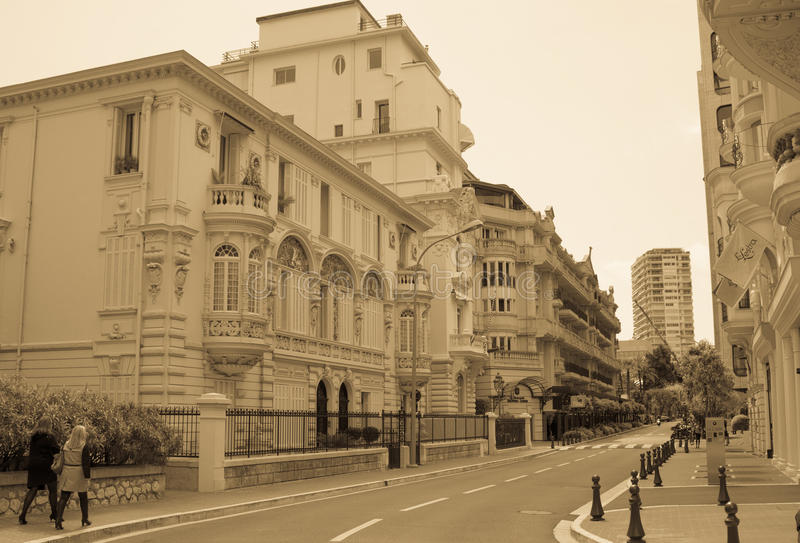 Ruas de Monte - Carlo imagem de stock