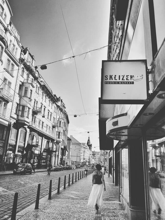 Ruas de Praga imagem de stock royalty free