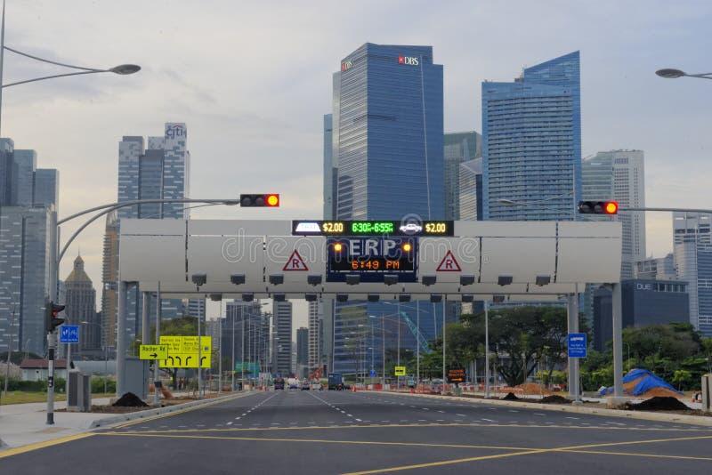 Ruas de Singapura imagem de stock royalty free