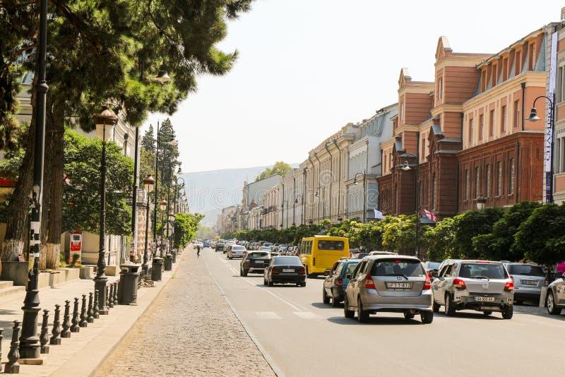 Download Ruas de Tbilisi foto de stock editorial. Imagem de estrada - 80101618