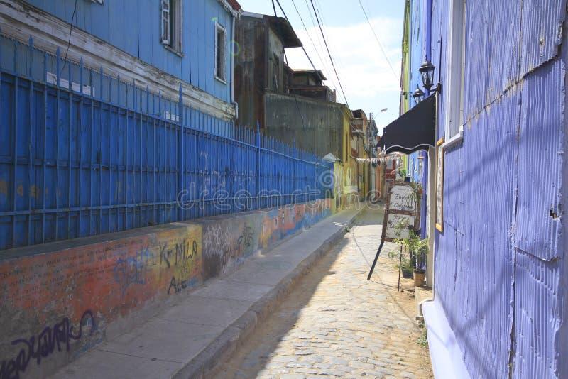 Ruas de Valparaiso, Vina Del Mar, o Chile fotos de stock royalty free