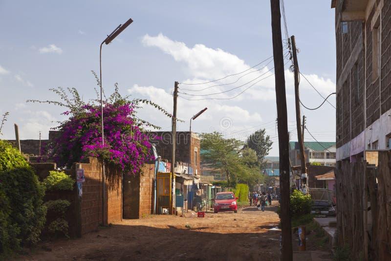 Ruas do kikuyu, Kenya, editorial imagem de stock royalty free