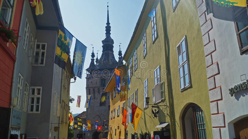 ruas do sighisoara imagem de stock royalty free