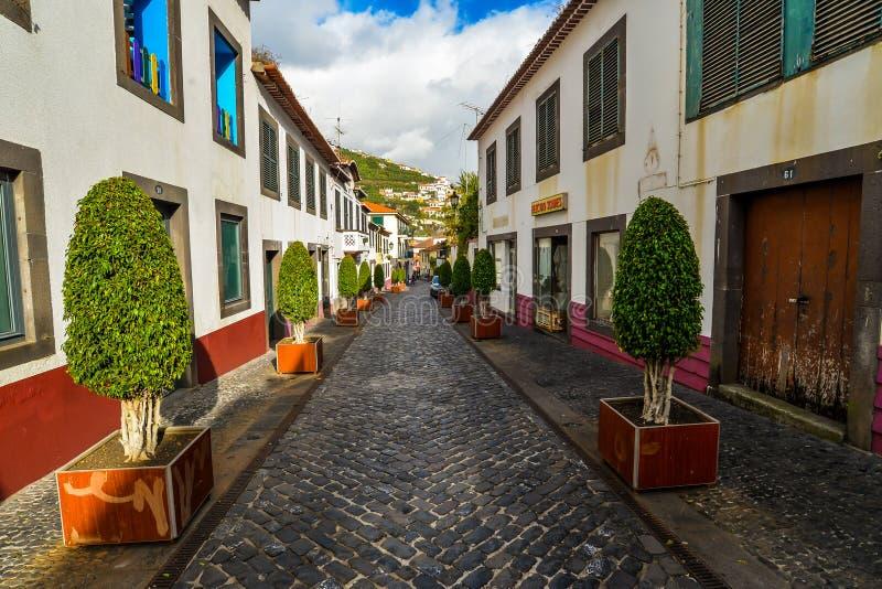 Ruas em Camara de Lobos imagens de stock royalty free