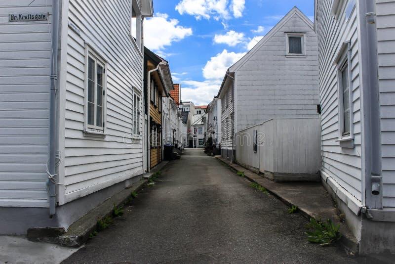 Ruas em Noruega fotos de stock