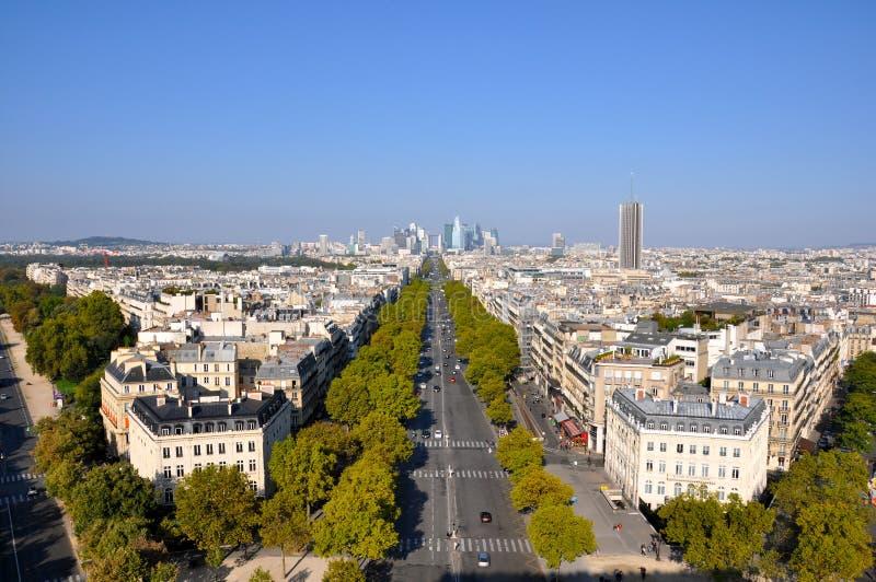 Ruas em Paris fotografia de stock