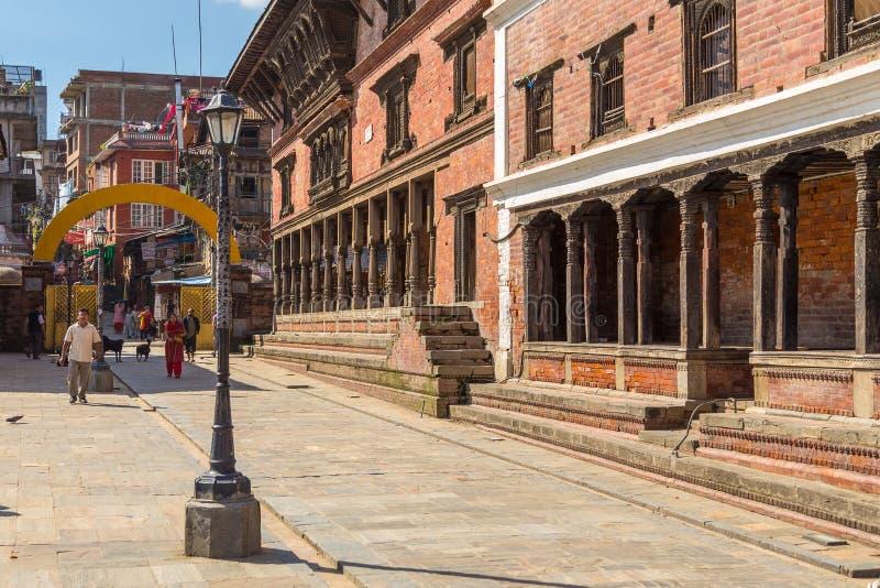 Ruas em Patan, Kathmandu Valley fotos de stock
