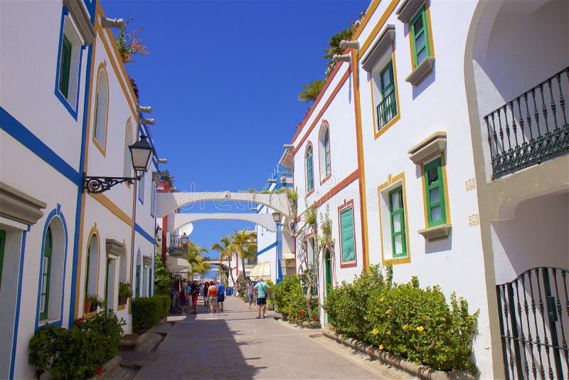 Ruas em Puerto de Mogan, Gran Canaria foto de stock royalty free