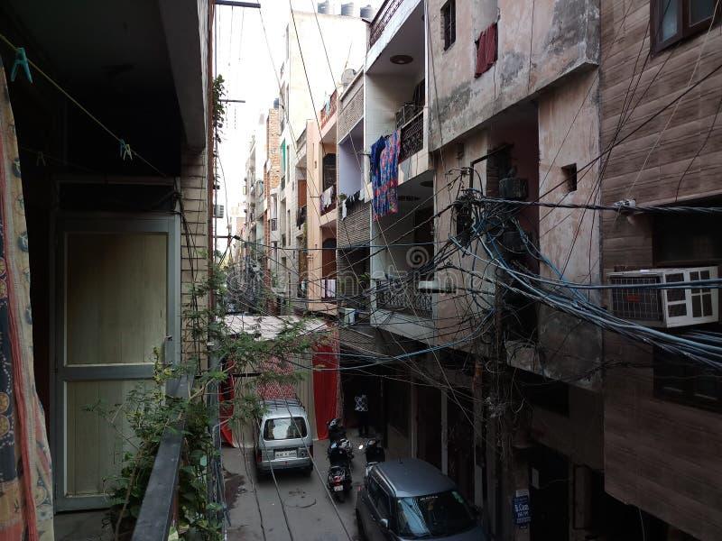 Ruas indianas fotografia de stock