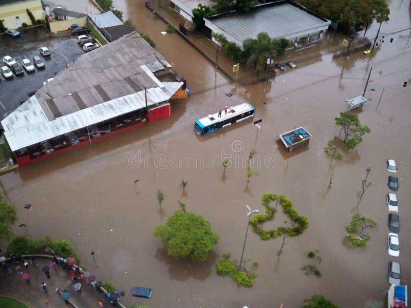Ruas inundadas foto de stock royalty free