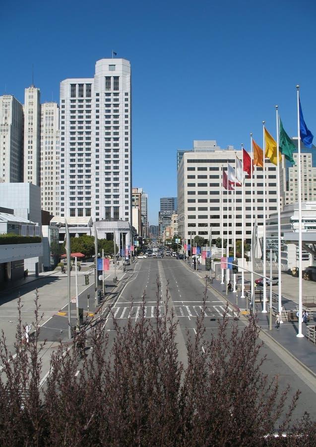 Ruas modernas de San Francisco do centro Califórnia, estado unido de América fotografia de stock royalty free