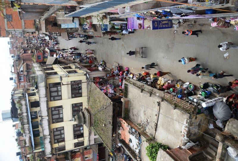 Ruas movimentadas de Kathmandu fotos de stock royalty free