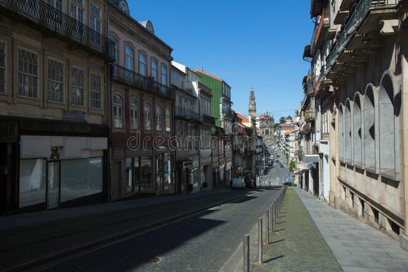 Ruas vazias do Porto no centro da cidade durante a Pandemia de Coronavírus fotos de stock royalty free