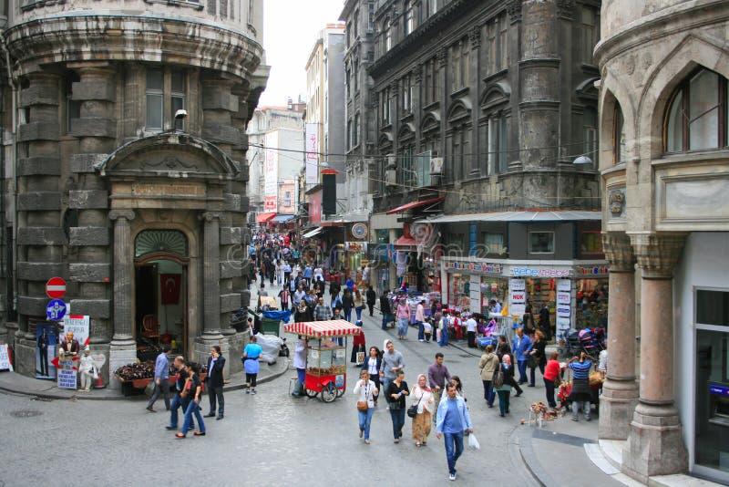Ruas velhas de Istambul fotografia de stock royalty free