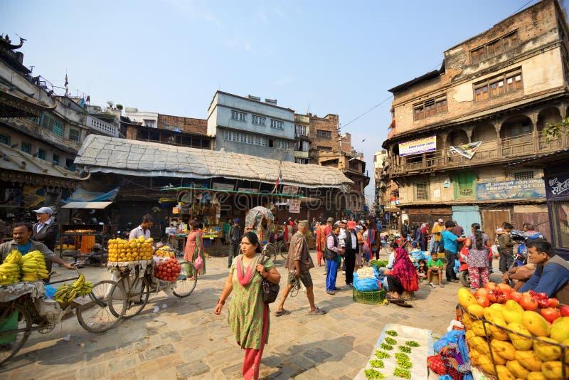 Ruas velhas de Kathmandu imagem de stock royalty free