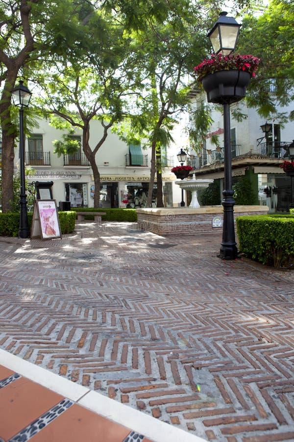 Ruas velhas de Marbella da cidade, Espanha imagens de stock