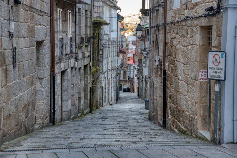 Ruas velhas de Ribadavia Distrito judaico Ribadavia imagens de stock