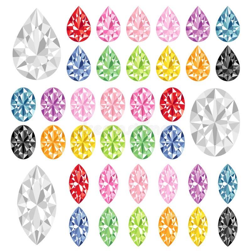 Rubí colorido ilustración del vector