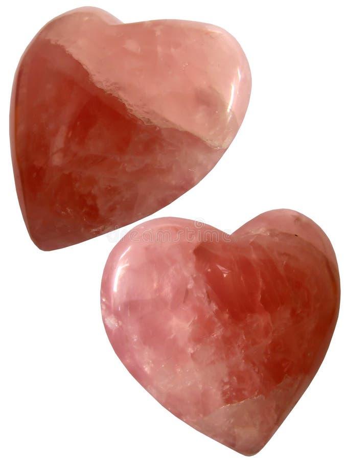 Rubí cristalino del cuarzo de la textura de los corazones de Rose fotos de archivo