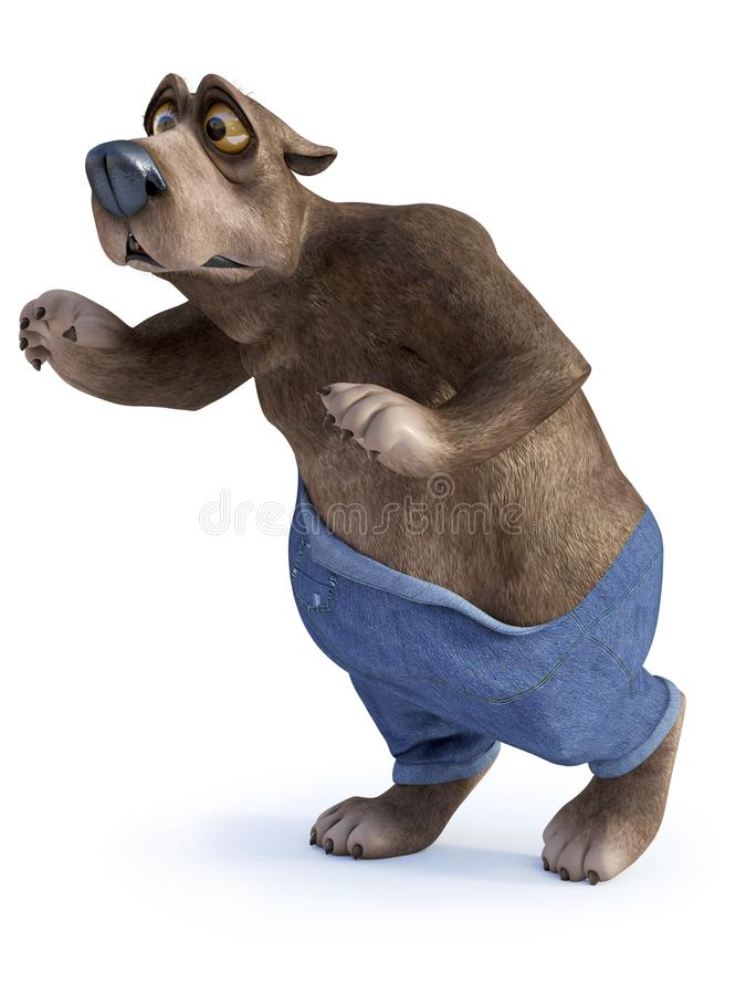 Rubacchiare dell'orso del fumetto illustrazione vettoriale