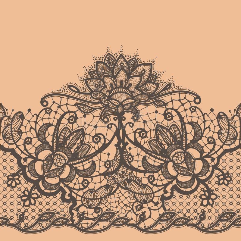 Ruban abstrait de dentelle illustration stock
